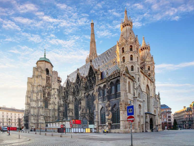庄严的维也纳圣史蒂芬大教堂