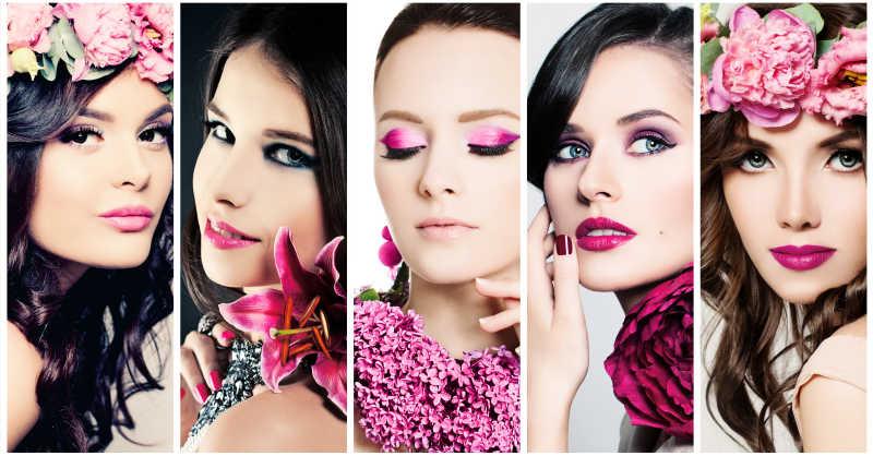 化妆的时尚美女