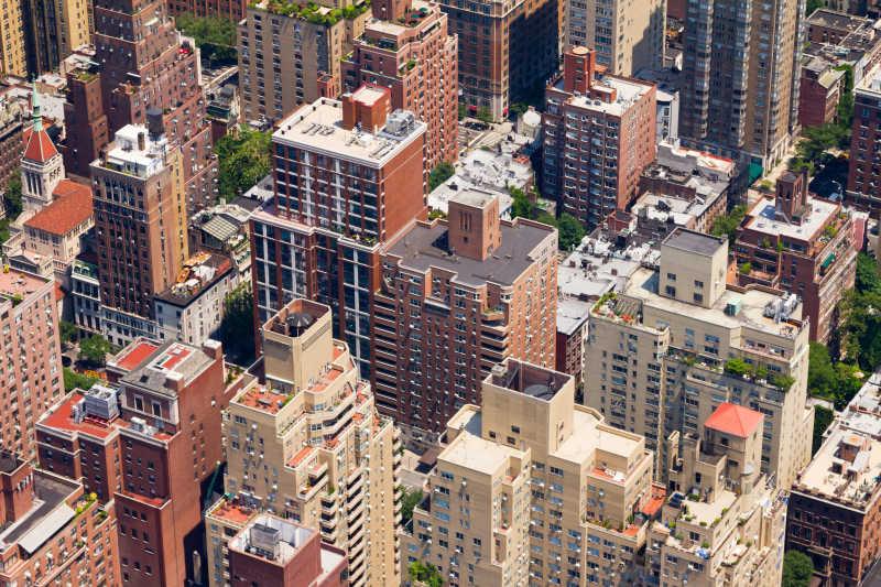 城市住宅区鸟瞰图