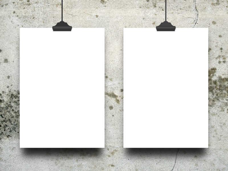 两道空白框架模板