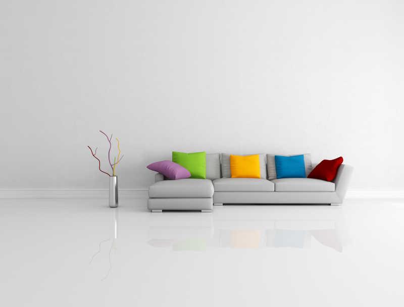 色彩鲜艳的简约客厅