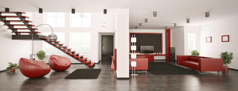 3D现代公寓室内全景