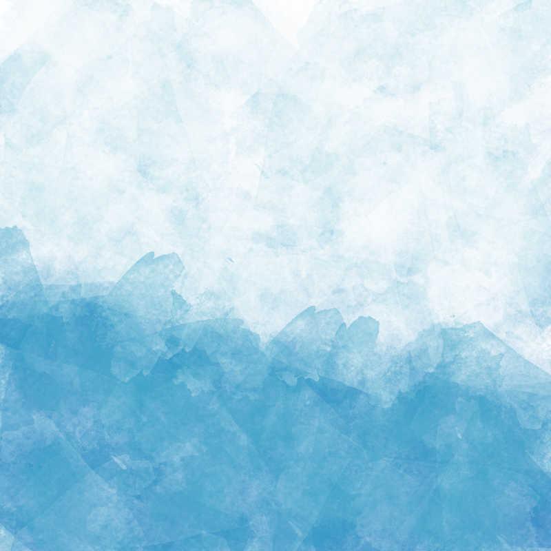 深浅不一的蓝色条纹水彩画