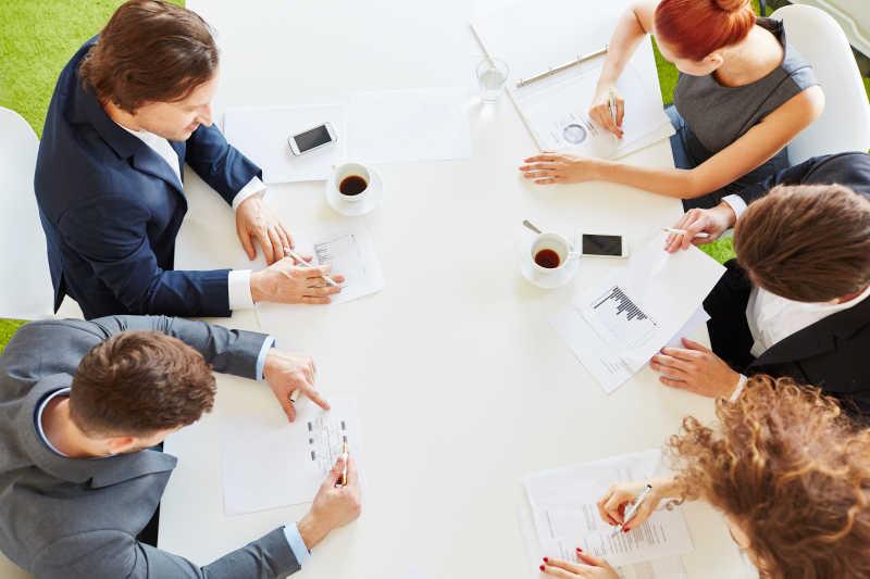 会议中的团队伙伴