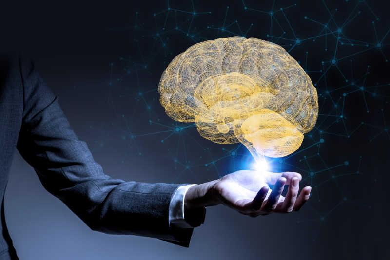 商务科技电子大脑背景