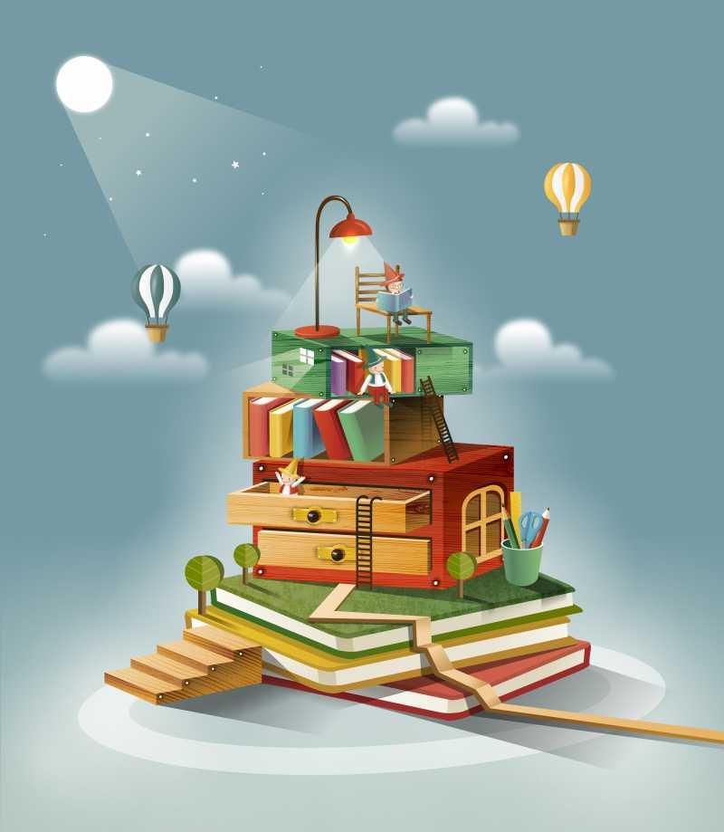 想象力和阅读的插图