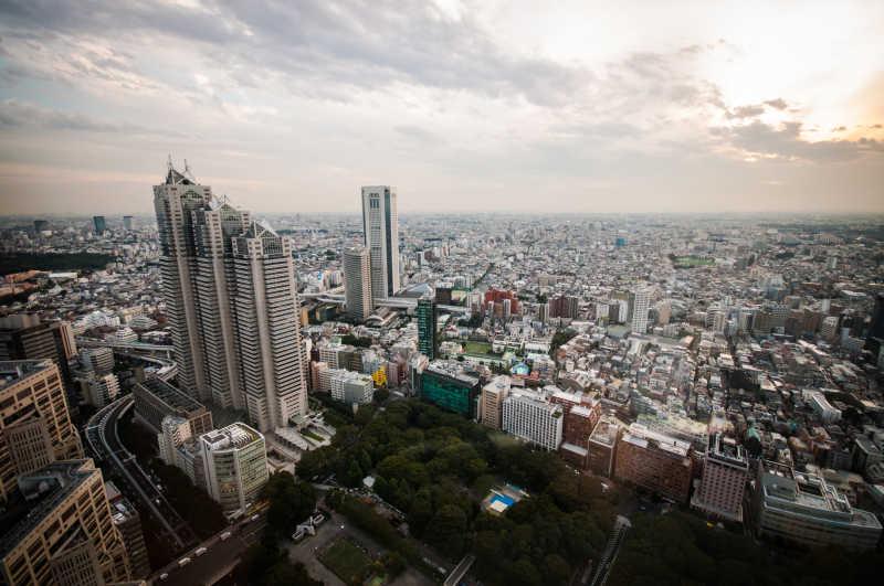 日本东京城市建筑全景