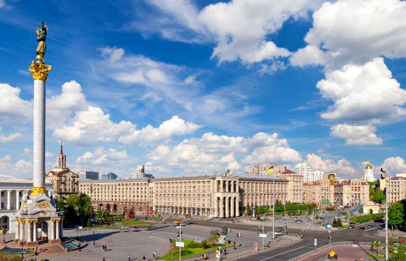 乌克兰基辅著名的独立广场