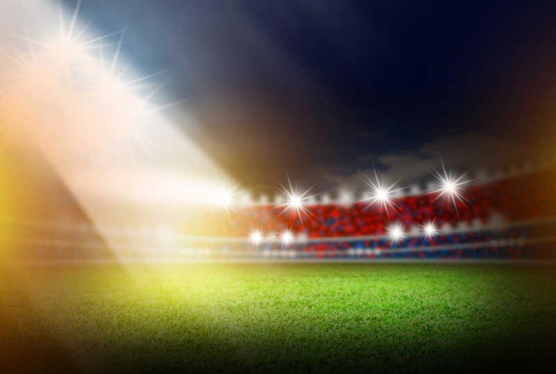 足球场和聚光灯