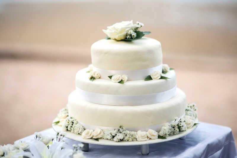 结婚婚礼蛋糕特写