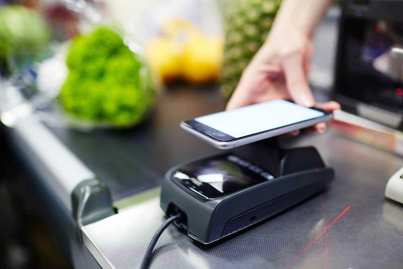 现代消费手机付款POS机