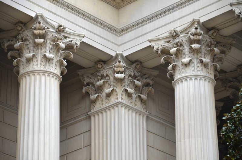 希腊古老建筑特写