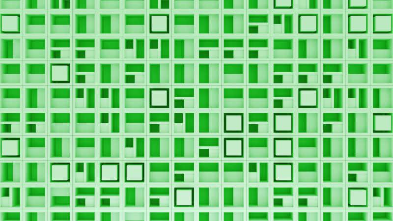 3D抽象随机旋转立方体