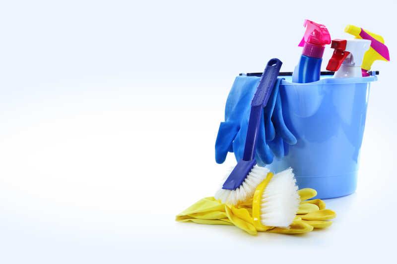 打扫清洁用品特写
