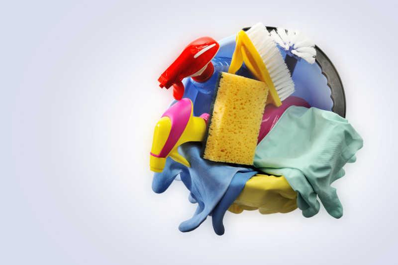 打扫卫生工具特写