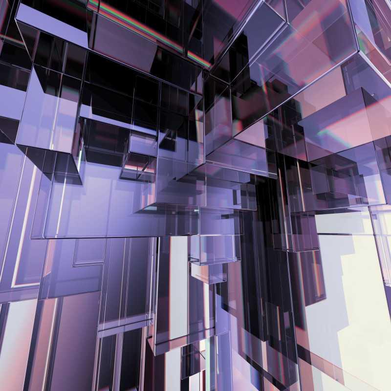 三维紫色几何图形概念抽象背景