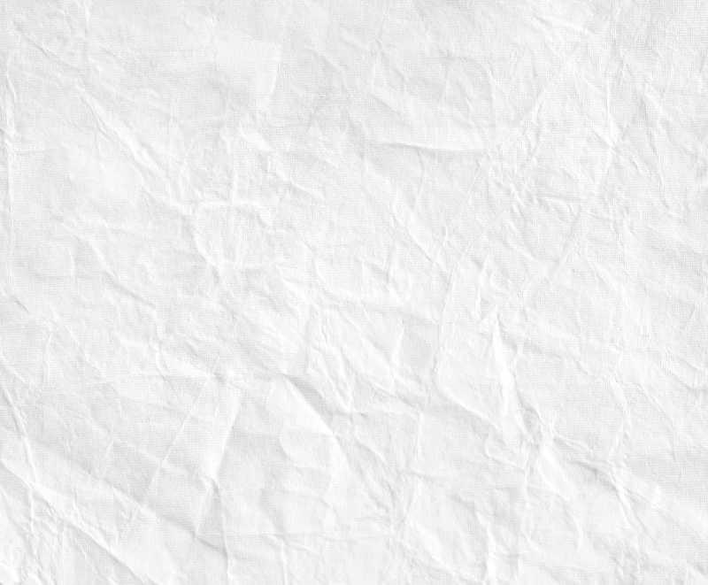 白色皱巴巴纹理纸片特写