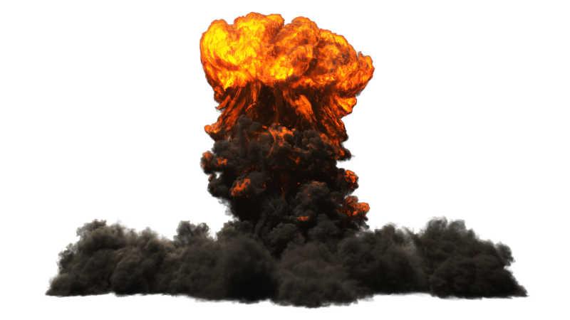核武器爆炸蘑菇云特写
