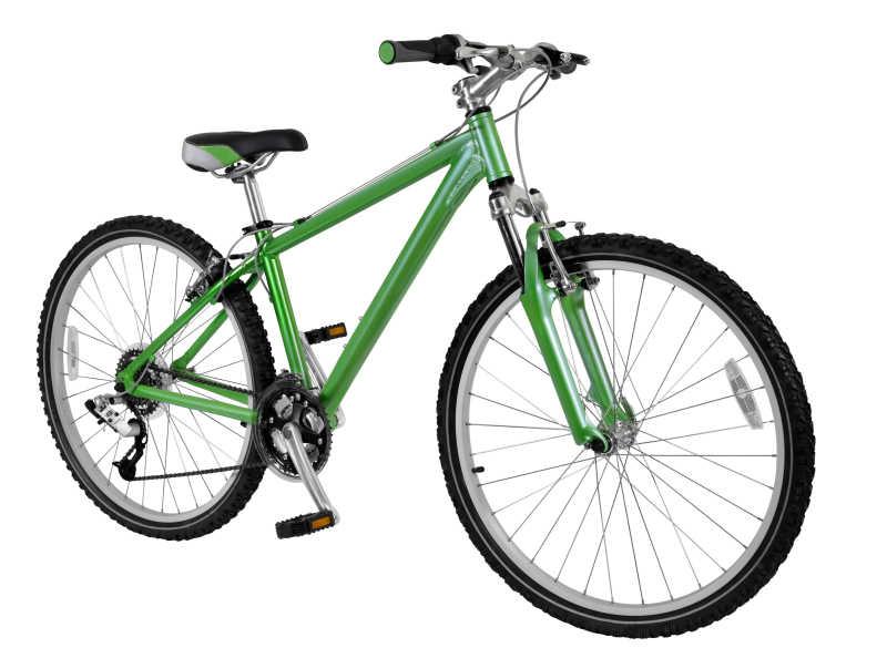绿色山地车