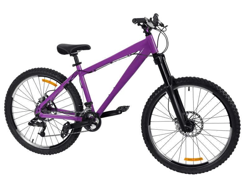 紫色山地车