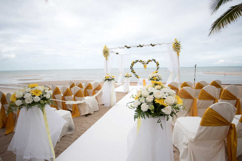 海边的户外婚礼