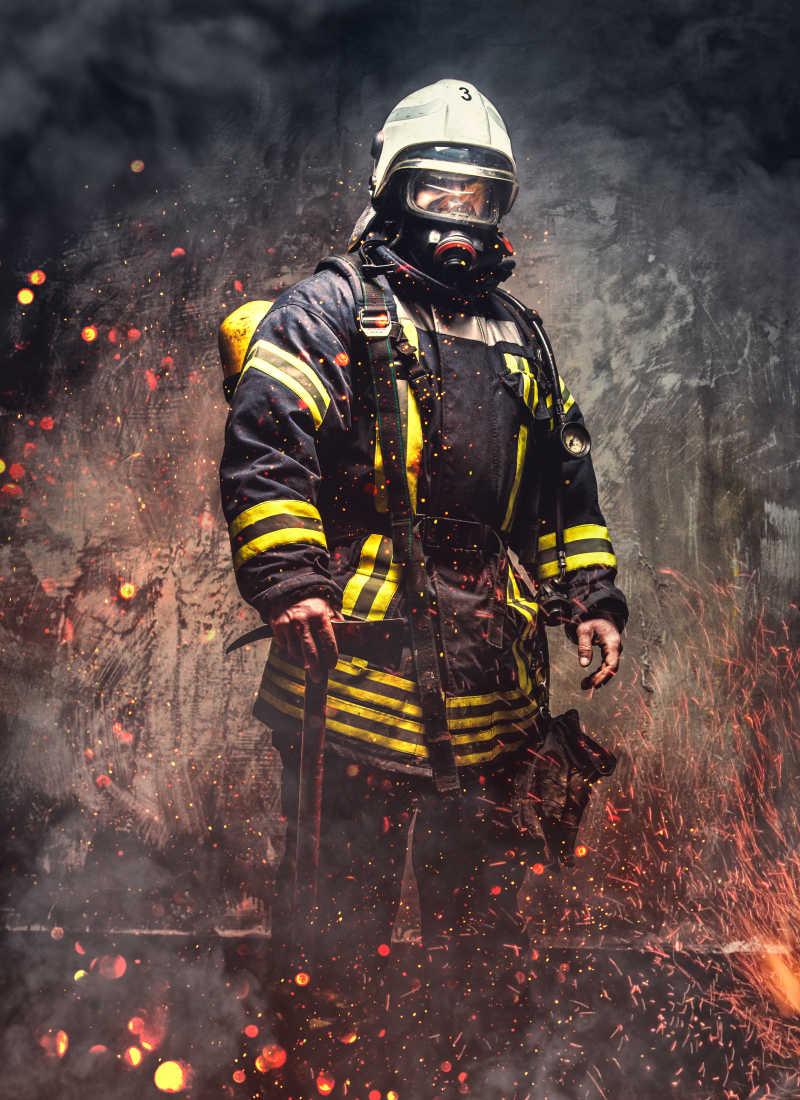 消防救人图标素材_有信心的消防队员图片-在消防站装备有信心的消防队员素材-高清 ...