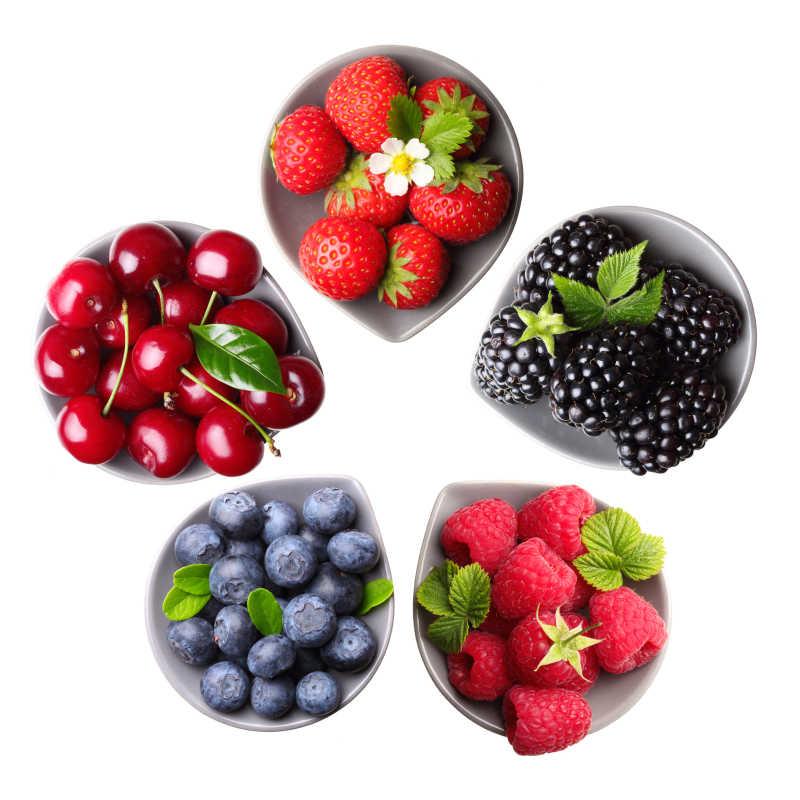 五种水果果盘