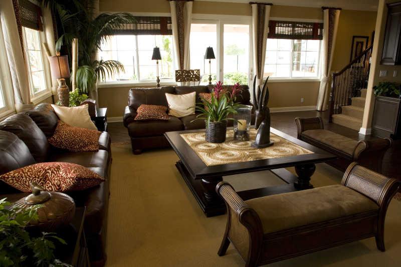 怀旧的客厅装修