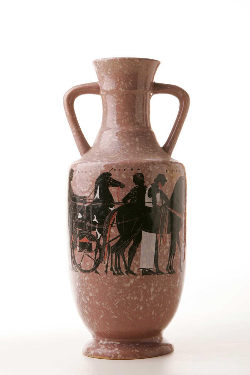 古希腊陶瓷双耳瓶
