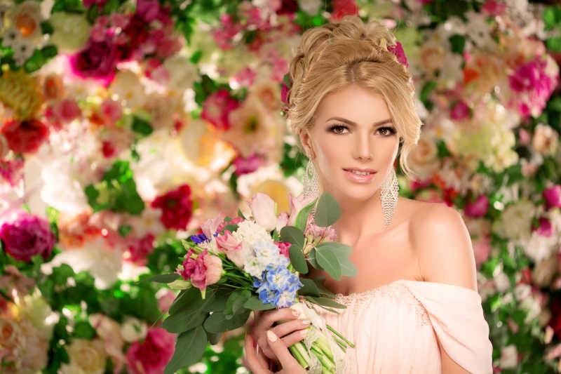 美丽的新娘特写