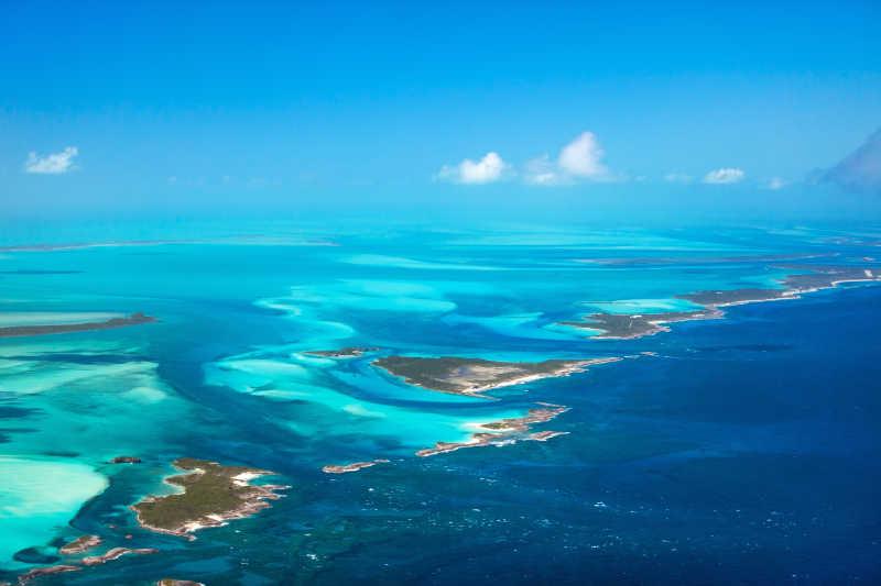 巴哈马风景空中拍摄