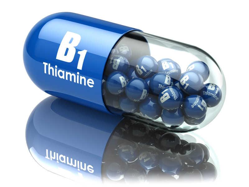 维生素B1胶囊硫胺丸膳食补充剂。