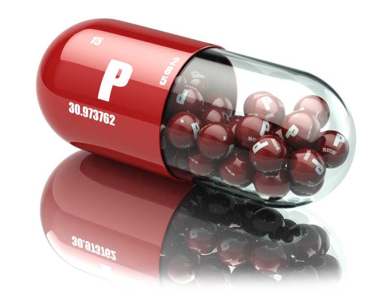磷磷膳食补充剂丸维生素帽
