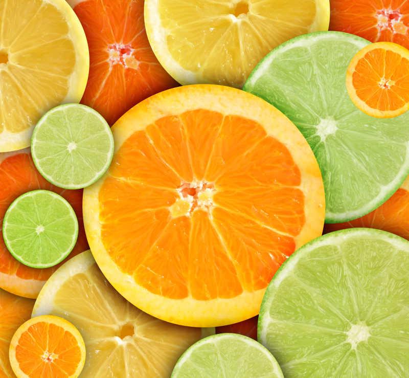柠檬橘子与酸橙