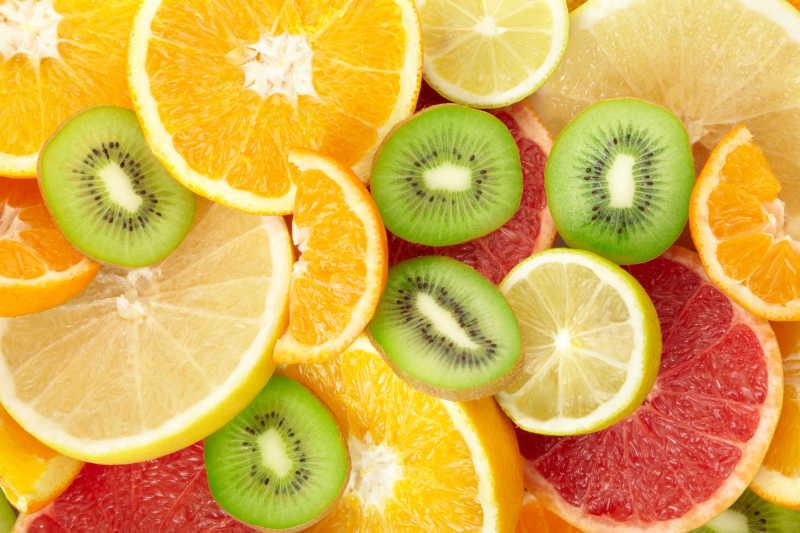 柑橘类水果背景