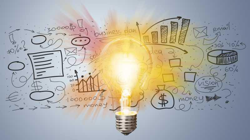 灯泡照耀下的商业理念