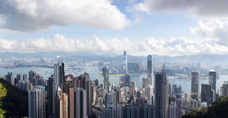 香港维多利亚港景色
