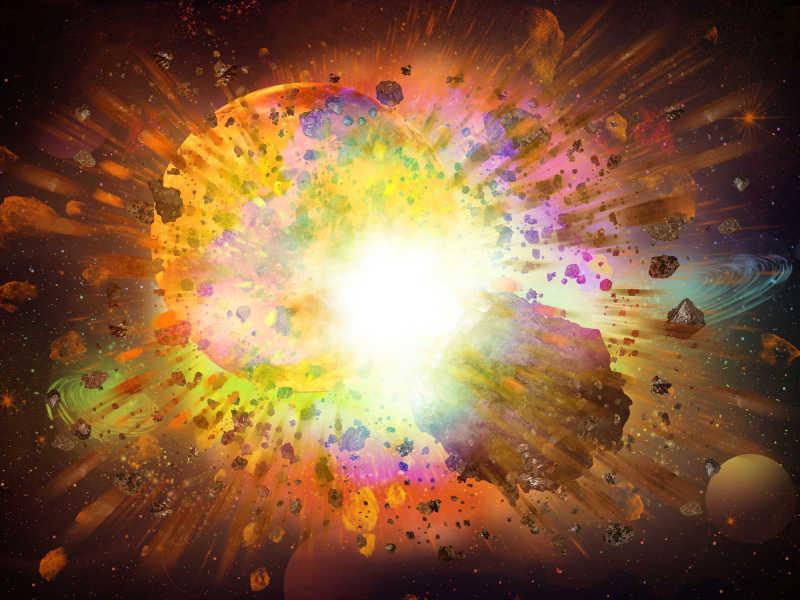 太空幻想爆炸的宇宙
