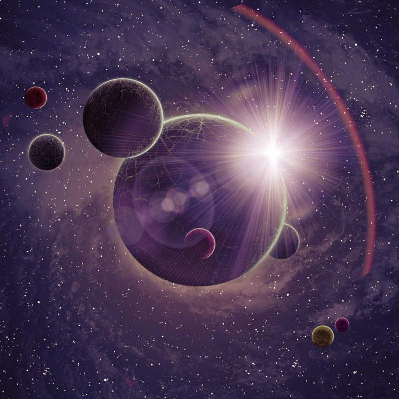 星空中的行星
