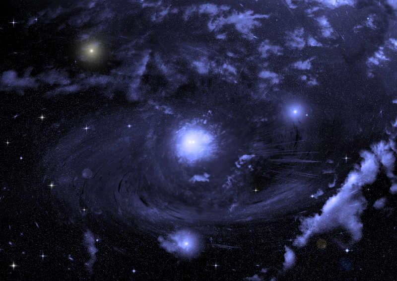 宇宙中的行星和恒星