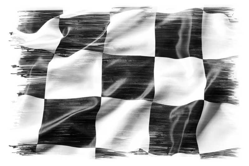 黑白格子旗帜