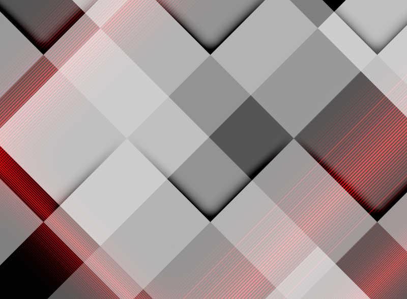 由大小颜色不一的方块组成的矢量图