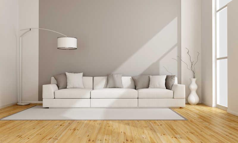 简约的客厅与白色沙发