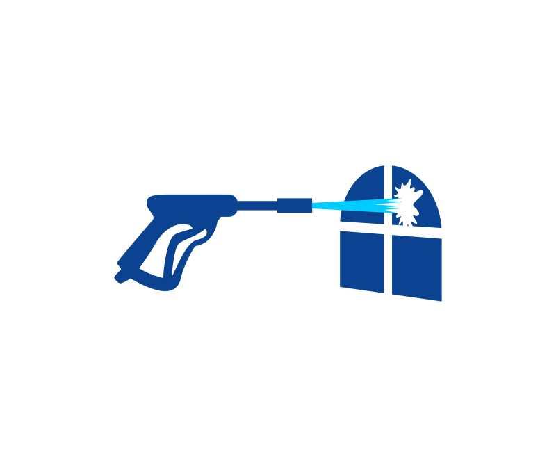 窗户清洁工的标志