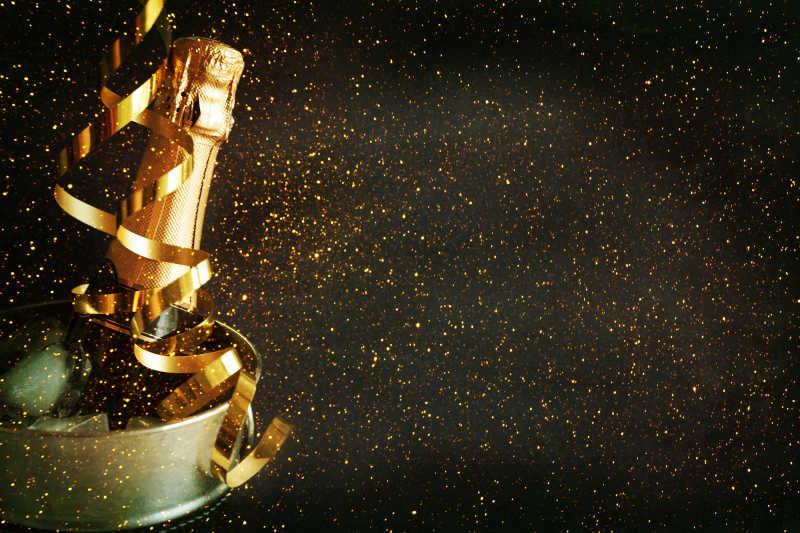 香槟酒庆祝新年的概念