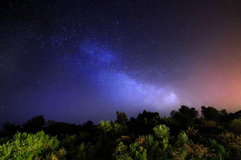 夜空中的星星自然风景
