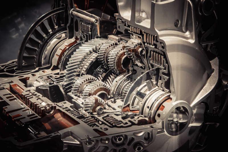 汽车重要零件发动机特写