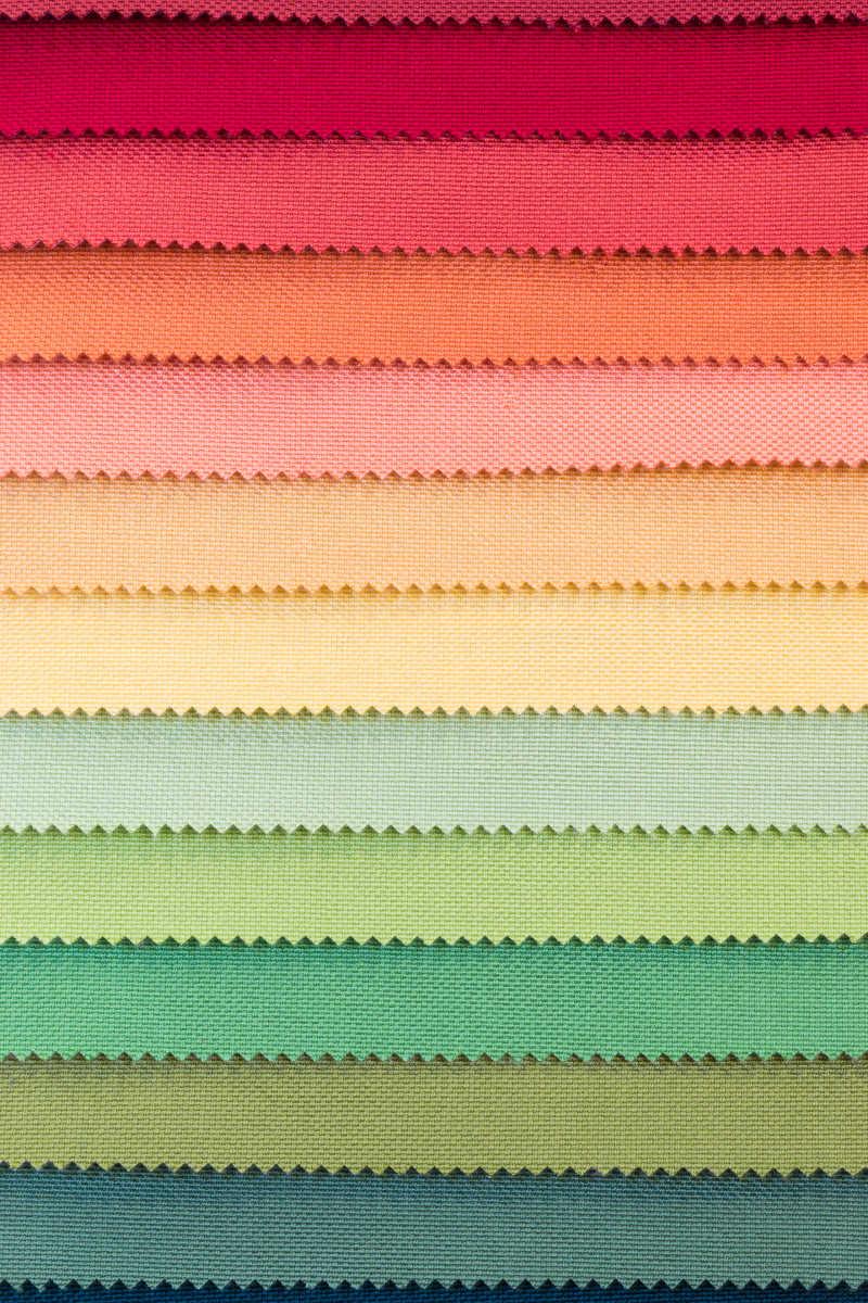 彩色布料样品