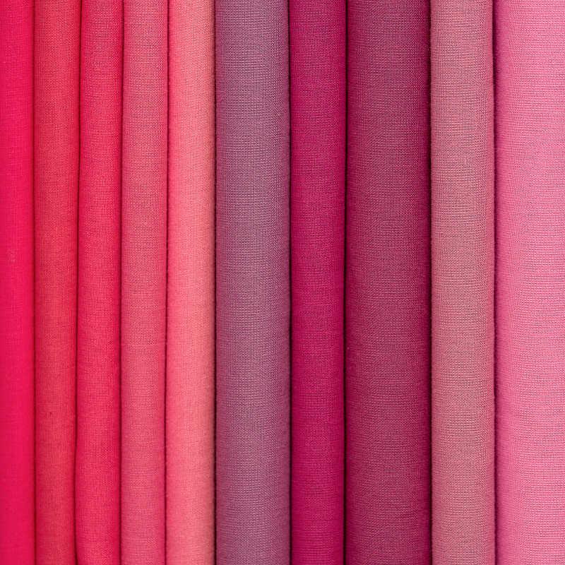 不同颜色的布料样品