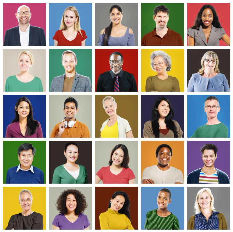 25张不同国家的人民肖像拼图
